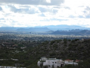 Downtown Tucson from the top of Alvernon